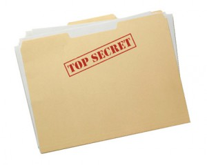 Protecting your work. Top secret files