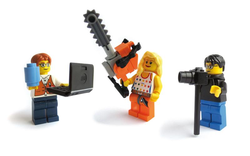 Three lego guys