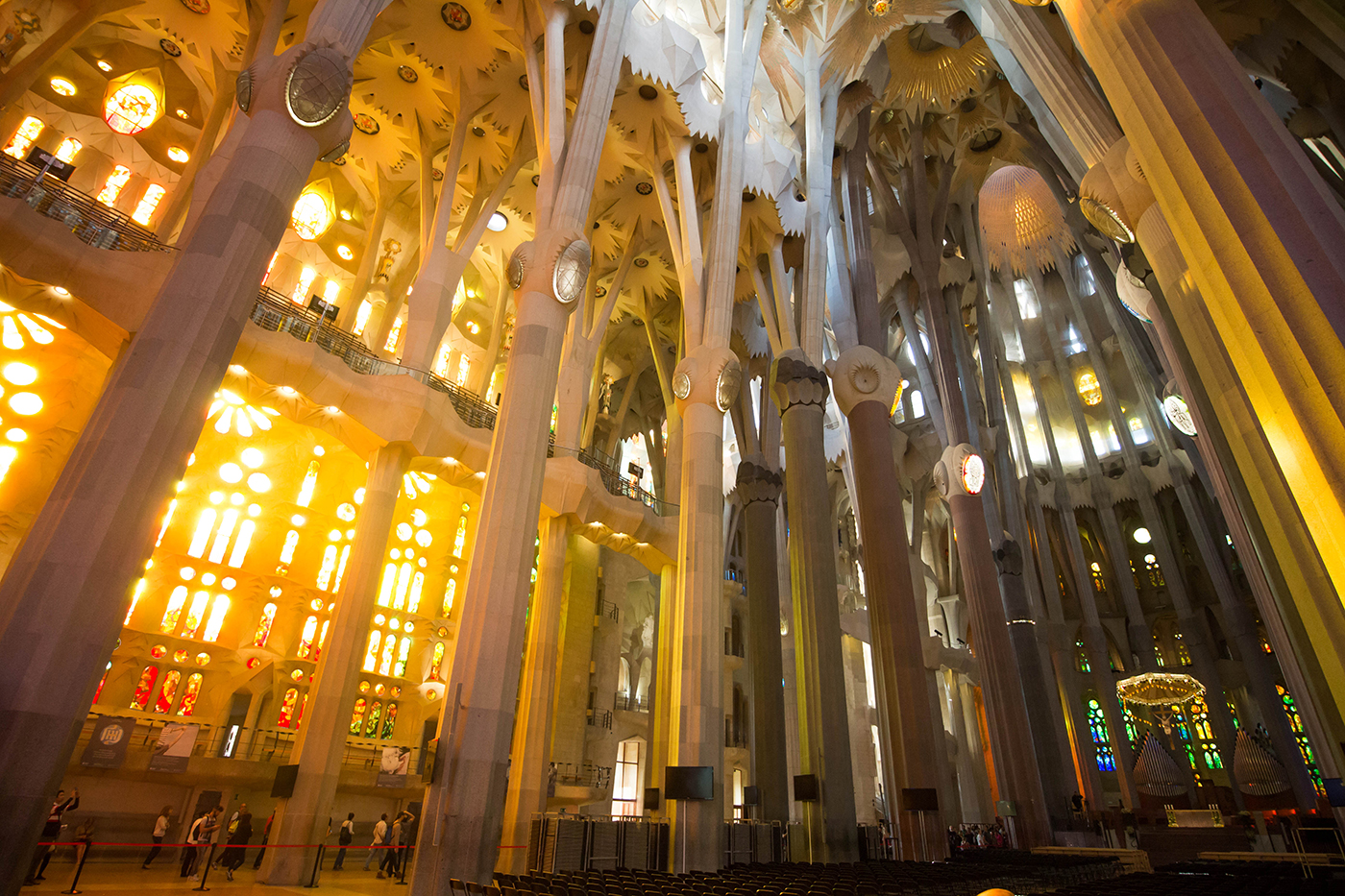 The inside of La Sagrada Familia