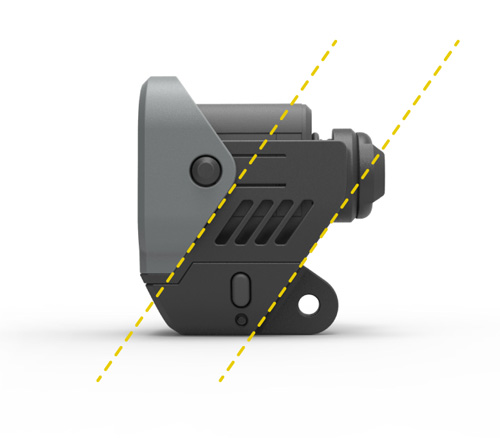 Diagonal lines in GoPro accessory