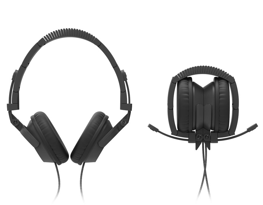 Folded and unfolded headphones