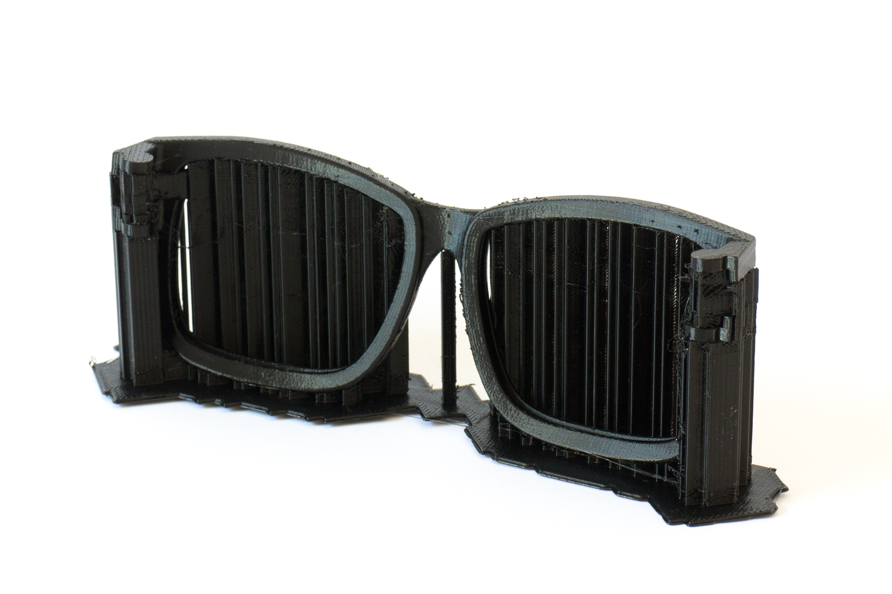 3D printed sunglasses with-supports